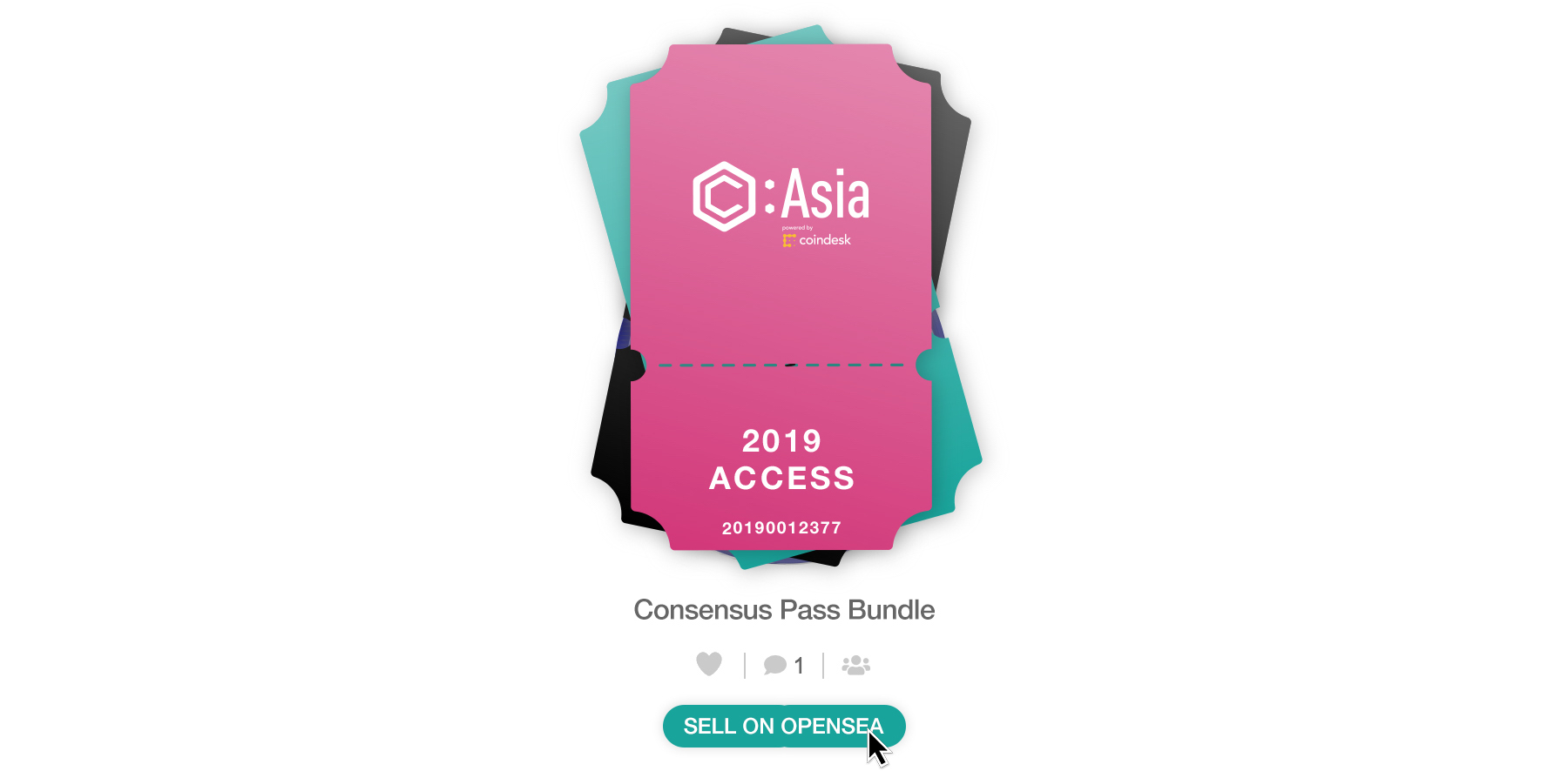 Consensus Swag Bag Media Release Images - Sell on OpenSea v1