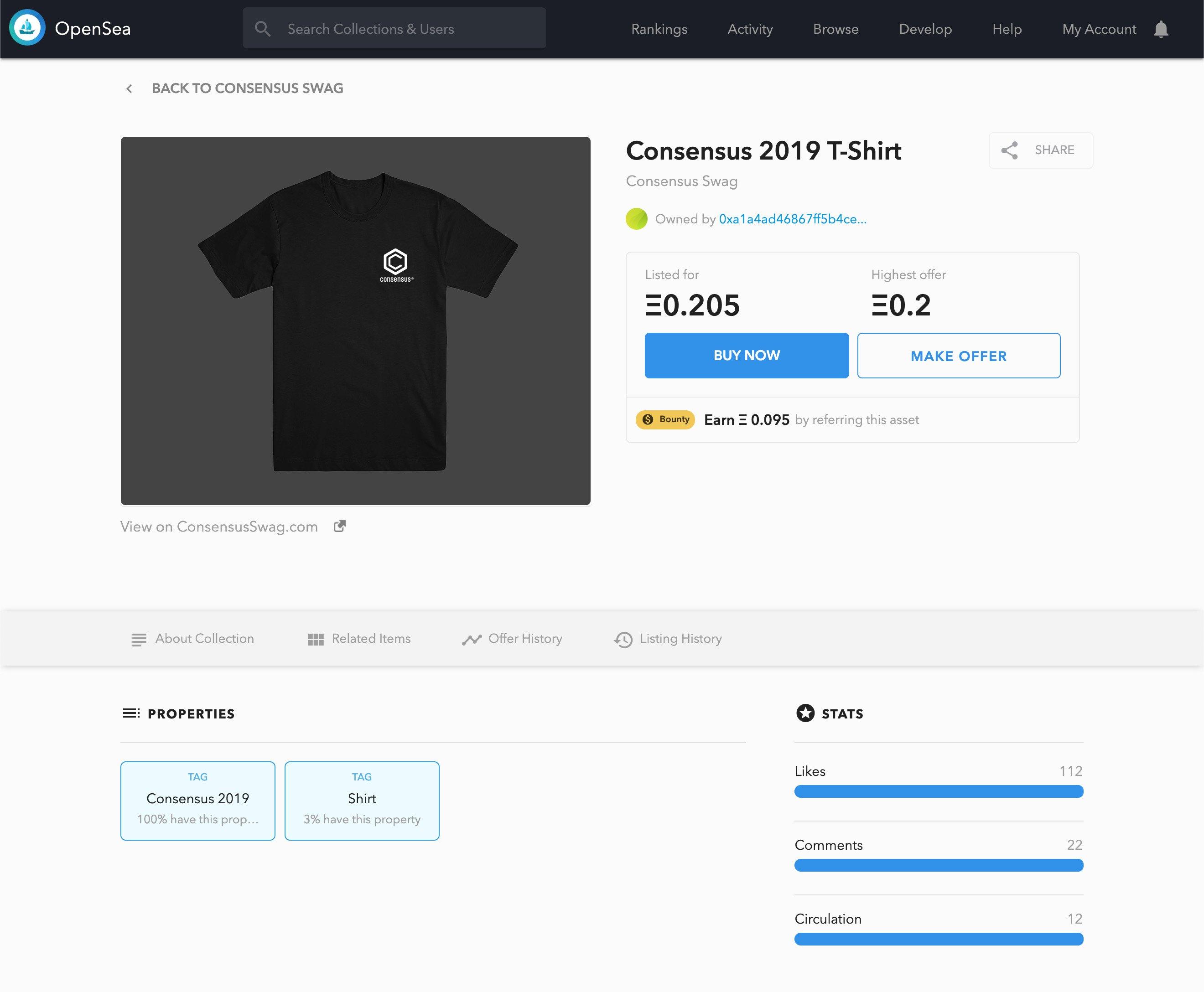 blogpost - opensea consensus token profile