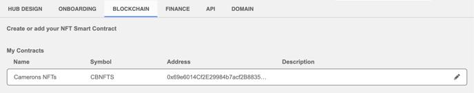 opensea import contract address in hub settings